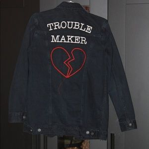 Black Denim Novelty Jacket